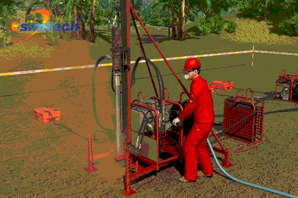 山地物探作业安全技术有形化动漫系统
